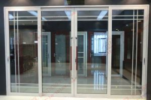 Top Grade Aluminum Sliding Door with Art Glass (BHA-DF16) pictures & photos