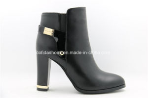 Trendy Sexy Thick Fashion High Heels Metal Women Boots pictures & photos