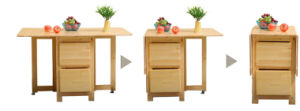 Solid Wood Folding Table and Chairs Set with Cheap Price pictures & photos