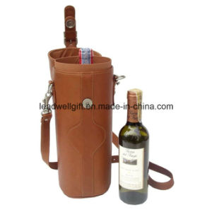 Deluxe Leather Wine Carrier Wine Holder pictures & photos