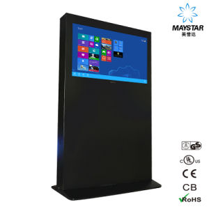 Ultra Thin WiFi Double-Screens Advertising Digital Kiosk pictures & photos