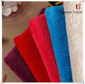 100% Polyester Plush Velveteen Fabric / Dyed Plush Velveteen pictures & photos