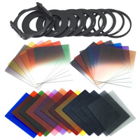 24PCS Cokin P Square Color Filters+9 Filter Adapter Ring+1 Filter Holer+1 Lens Hood+4 Filter Case