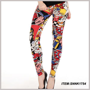 Factory Direct Sale Custom Print Flower Women Leggings (SNNK1754) pictures & photos