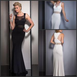 Fashion Chiffon Ladies Dress Mermaid Sash Evening Gown Z207 pictures & photos