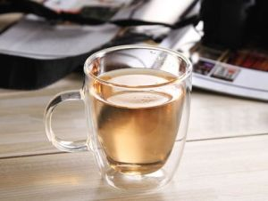Clear Double Wall Glass Mug 16oz Coffee Cup pictures & photos