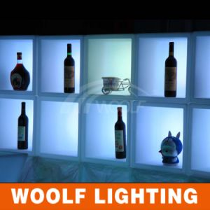 French Modern LED Lights Colors Changing White Wine Cabinets pictures & photos