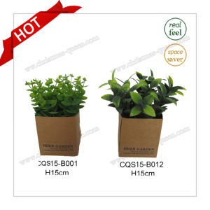 H15cm Grass Plant Type Plastic Flower Artificial Plant Bouquet pictures & photos