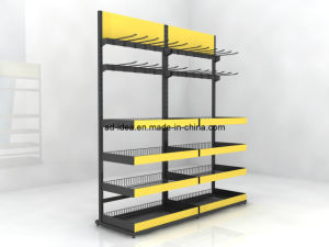 Adjustable Two Sided Galvanized Wire Metal Floor Display Racks pictures & photos