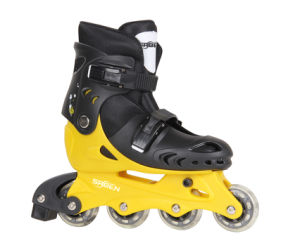New Black PVC Wheel Roller Skates