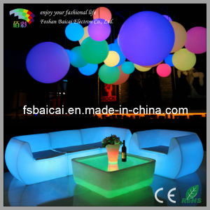 KTV Long Sofa LED Light Table