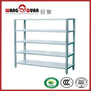 Restaurant 5 Tier Flat Panel Stainless Steel Shelf pictures & photos