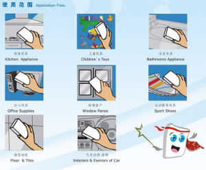 Magic Sponge with Scouring Pad Cleaner China Manufacture Factory pictures & photos