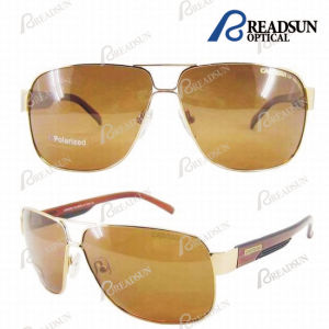 Classic Stainless Steel Metal Sunglasses with Polarized Lens (SM606044) pictures & photos