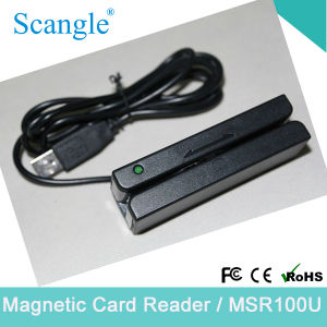 Mini Portable Track 1/2/ 3 Magnetic Card Reader with USB Port pictures & photos