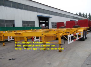 3 Axles 80 Tons Skeleton Container Semi-Trailer with Fuwa Axle