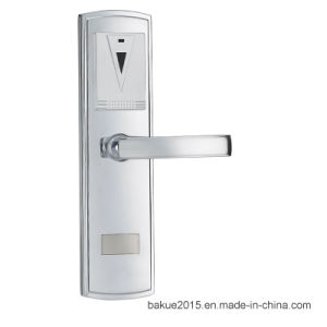 High Security Electronic RFID Card Door Lock Digital Lock in Plated Nickel pictures & photos
