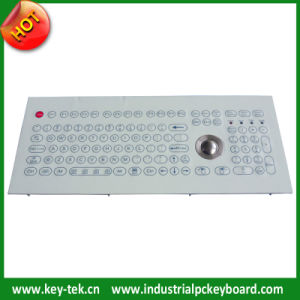 Membrane Industrial Easy Clean Keyboard with Trackball