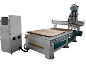 Professional Supply Three Heads Pneumatic Woodworking Router CNC pictures & photos