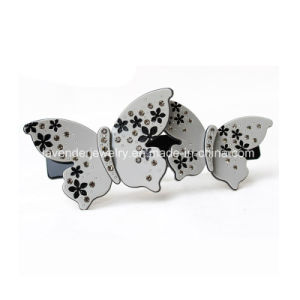 Hair Jewelry Plant Butterfly with Rhinestone Hair Clip for Girls