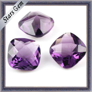 Fashion High Quality Amethyst Square Cubic Zirconia for Jewelry pictures & photos