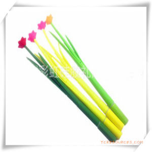 Silicone Ball Pen with Grass and Flower Shape for Promotion pictures & photos