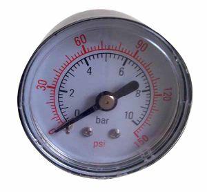 Black Steel Case Pressure Gauge (B-0065)