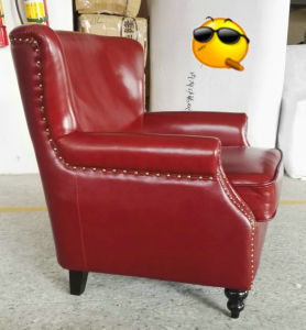 Red Color Club Chair, Cigar Bar Chair, Leather Chair (A888) pictures & photos