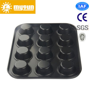 Kitchenware 12 Cup Cake Pan with Non-Stick Coating pictures & photos