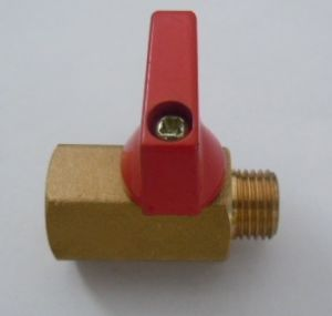 """1/4"""", 3/8""""-1/2""""Female X Male Brass Mini Ball Valve (a. 0129) pictures & photos"""