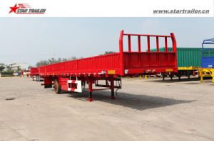 3axles Semi Drop Side Trailer for Truck pictures & photos
