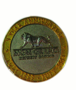 Metal Coin with Two Color Plating
