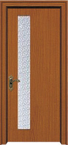 PVC Wood Door with Glass (WX-PW-154) pictures & photos