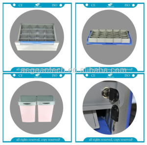 Double Ten Drawers Double Side Medication Medicine Drug Trolley Carts (AG-MT011A1) pictures & photos