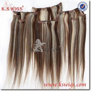 Clip in Hair Remy Human Hair 100% Keratin Hair pictures & photos