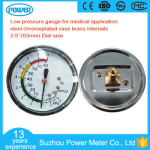 65mm -20 to 80 CMH2o Low Pressure Gauge for Medical pictures & photos