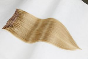"""16""""18""""20"""" Silky Straight Human Hair Clip-in Hair Extension (27#) pictures & photos"""
