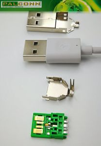 USB3.0 Plug Solder Type Material=SPCC-SD T=0.30mm, Underplate Plated Copper Overall 80u′′ Min pictures & photos