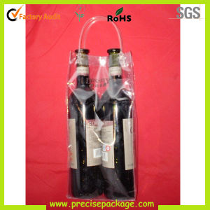 Customized Wholesale Recycled Fashion Clear Plastic PVC Wine Bottle Bag