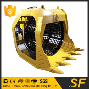 SF Factory Price Screen Bucket Rotary Screening Bucket for Excavator pictures & photos