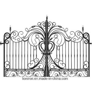 Modern Design Decorative Wrought Iron Gates pictures & photos