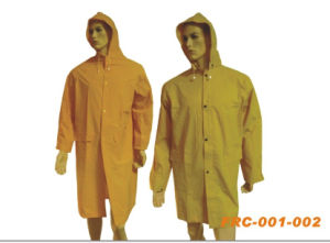 PVC/Polyester Raincoat pictures & photos
