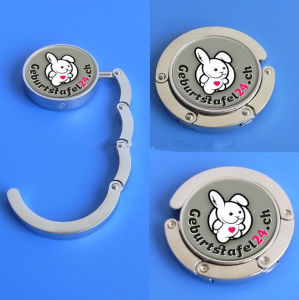 Customized Cute Logo Printing Foldable Bag Hanger (ASNYBH-001) pictures & photos