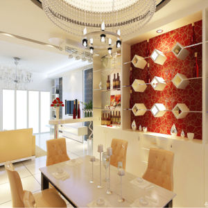 Gorgeous with Golden Decoration White Hightlight Painting Wine Cabinet/Bar pictures & photos