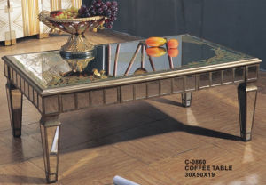C-0860 Glass Top MDF Base Coffee Table