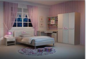 2012 Fashioal Bedroom Children Furniutre (55008)
