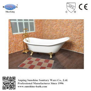 New Style Freestanding Enamel Slipper Cast Iron Bathtub Sw-1014