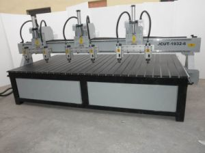 Custmozied Multi Wood CNC Router Machine with Three Heads and Six Spindles (JCUT-1932-6)