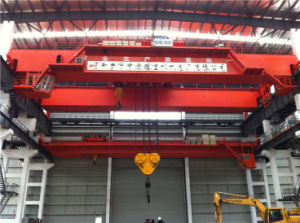 Double Girder Heavy Duty Workshop Overhead/Bridge Crane with Cap. 550t