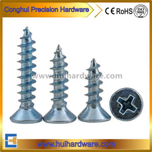 Zinc Plated Steel Phillips Recessed Countersunk Head Self-Tapping Screws pictures & photos
